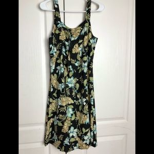 Coldwater Creek Dress Floral Hawaiian Silk 10